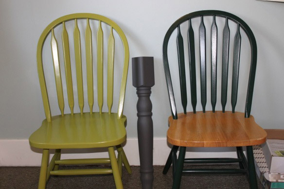 Kitchen chairs update hammer like a girlhammer like a girl for Painted kitchen chairs