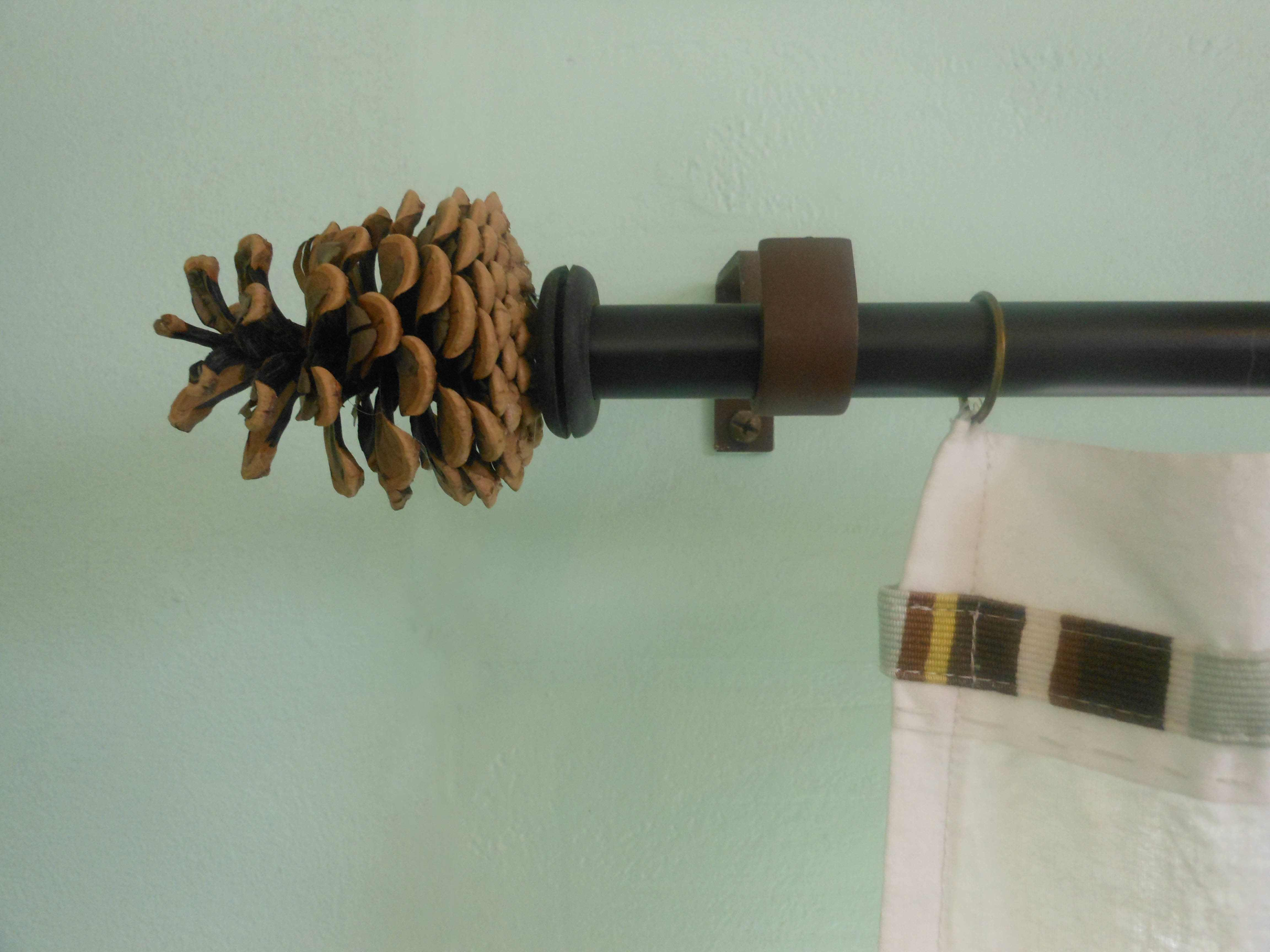 Make Your Own Curtain Rod Finials