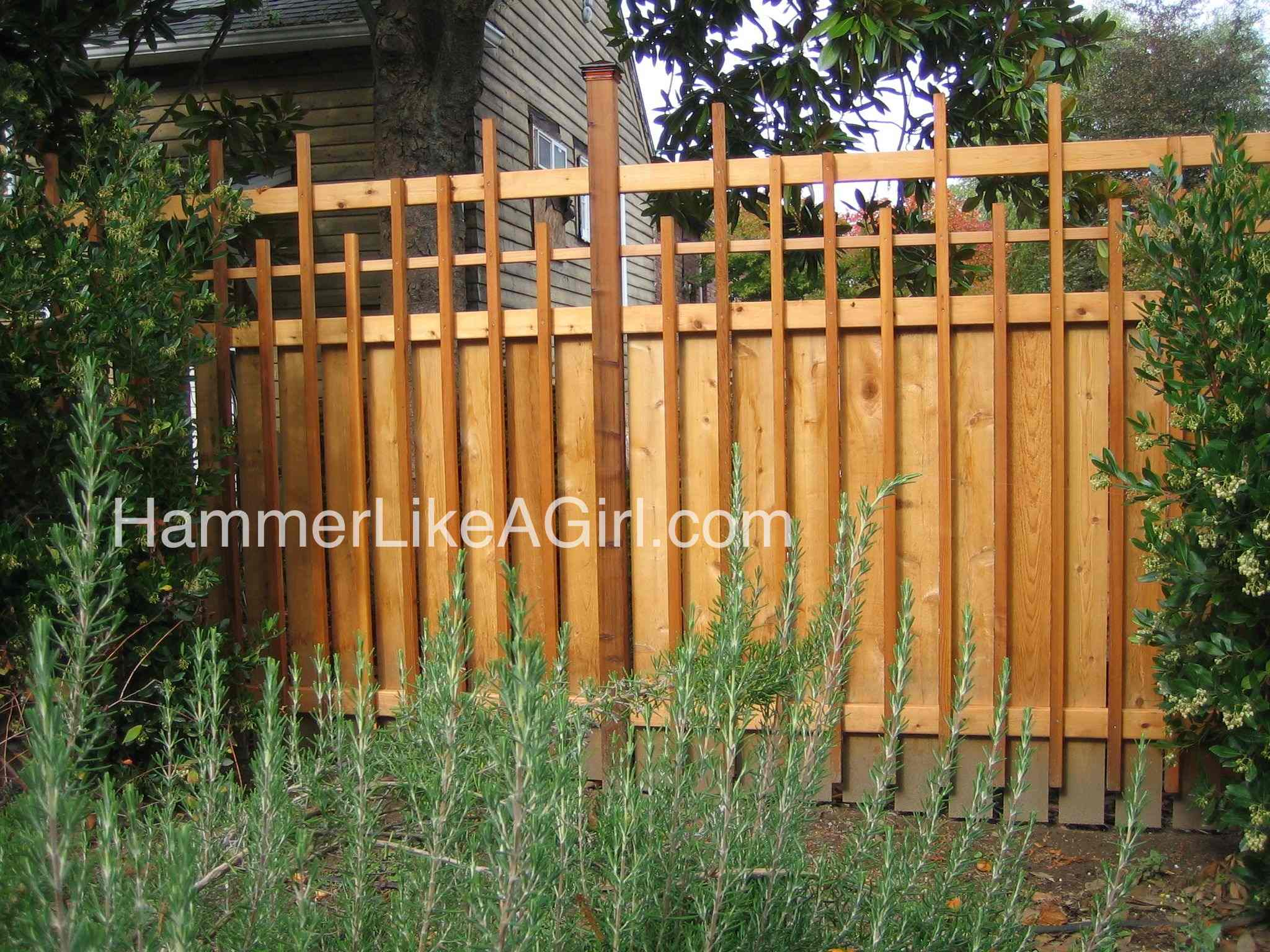 backyard fence was intended to create more privacy than the front yard