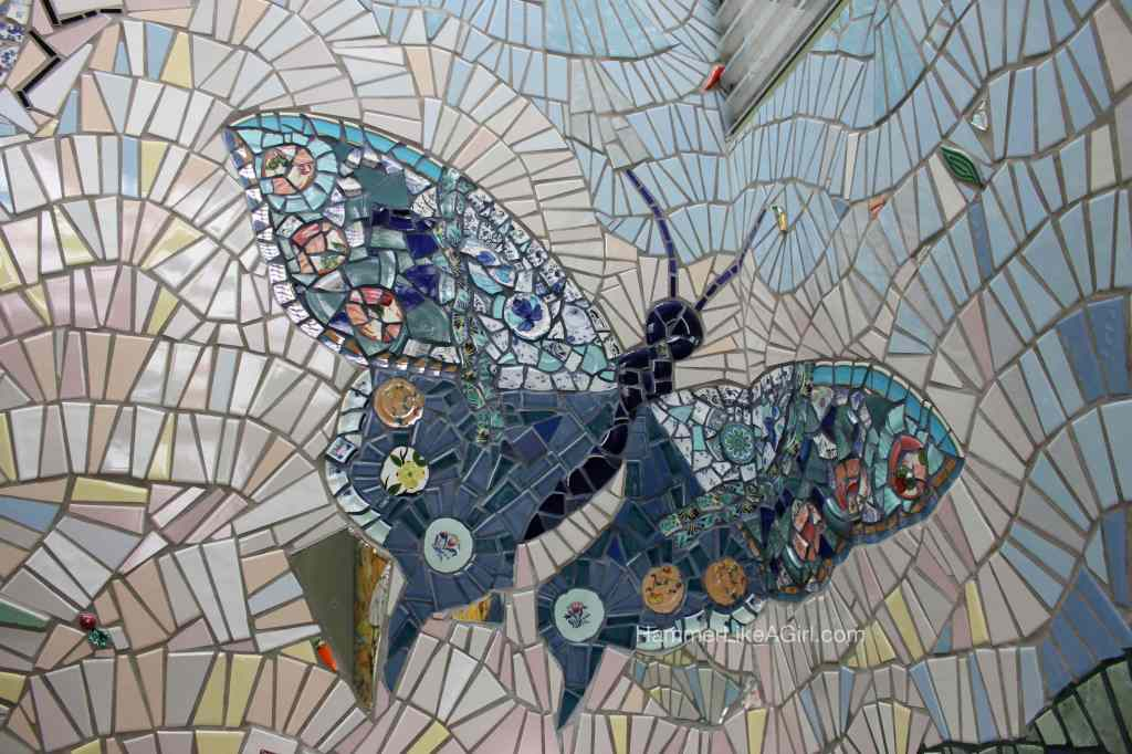 tile for mosaics - butterfly