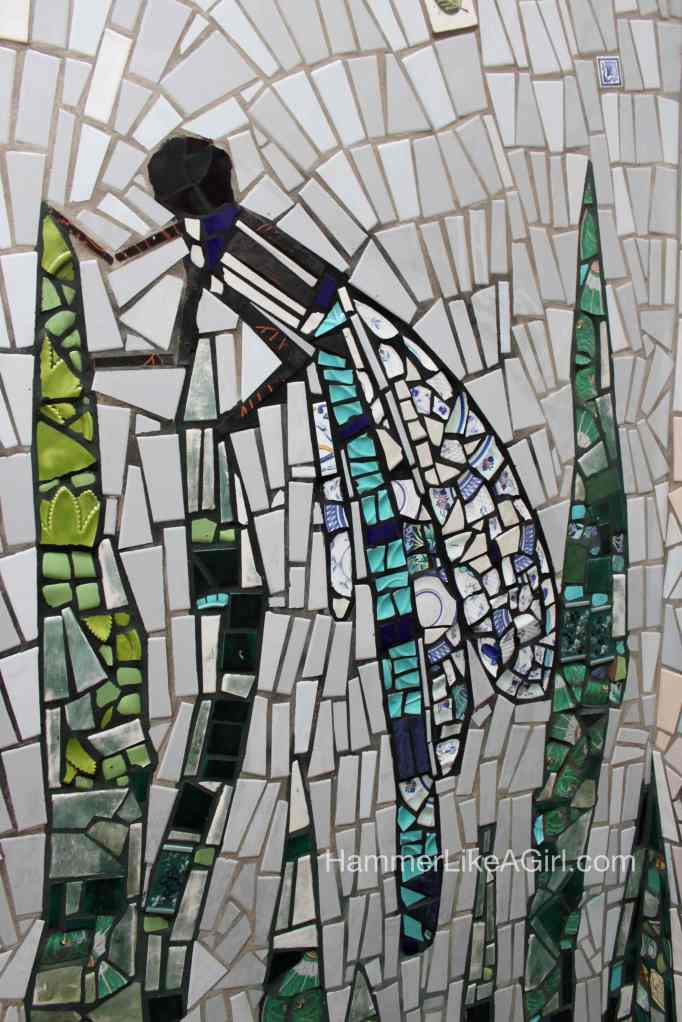 tile for mosaics - dragonfly