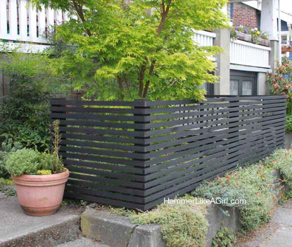 Fence stained black