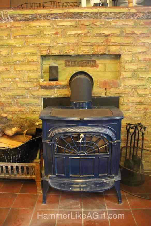 Existing Woodstove and Hearth