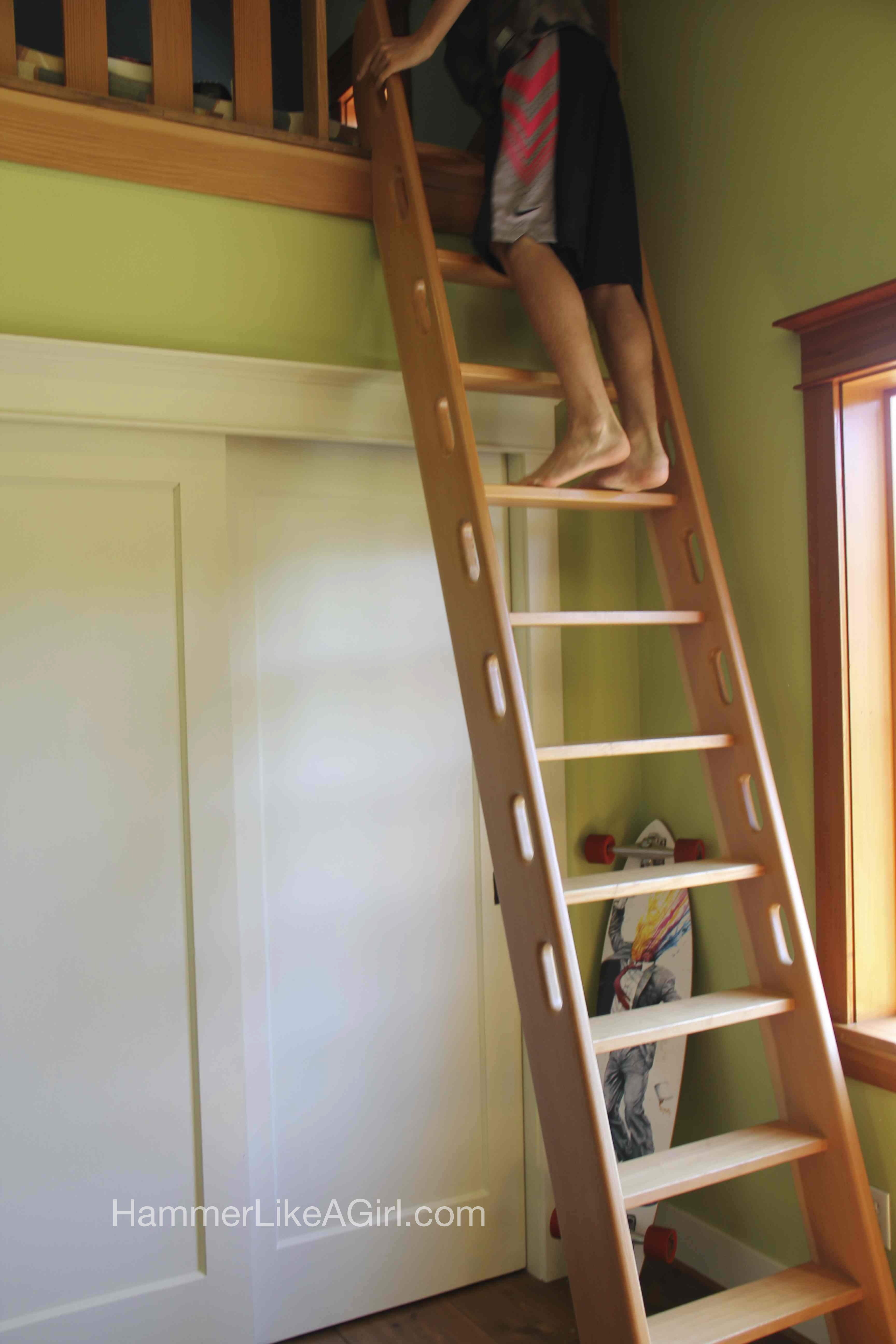 Salvaged Doors and Ladder Action