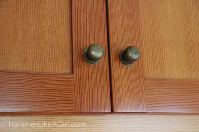 Shaker style kitchen cupboard doors.