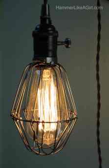 diy light, how to make a light fixture, interior design, salvage design, up cycle, green design
