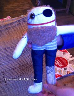 upcycle goods, handmade doll