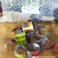 upcycle goods, aluminum can upcycle, soda can craft